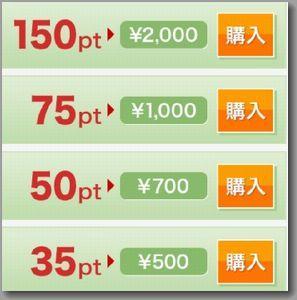 PCMAXのアプリ課金の換金表