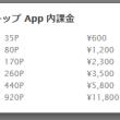 ハッピーメールのiPhoneの金額