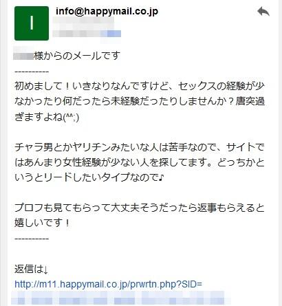ハッピーメールの返信