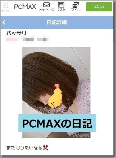 PCMAXの日記